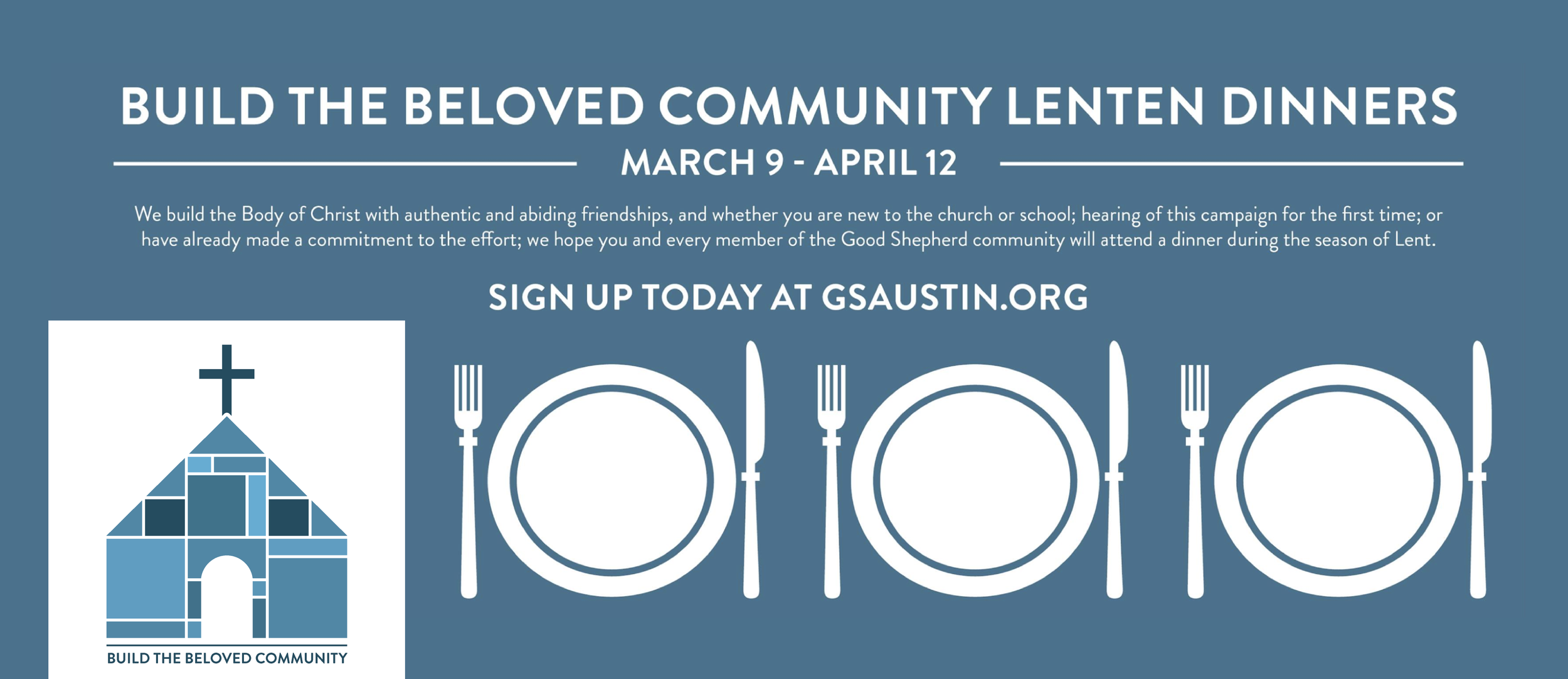 An example of a facebook cover banner created during the campaign to promote Lenten dinners.