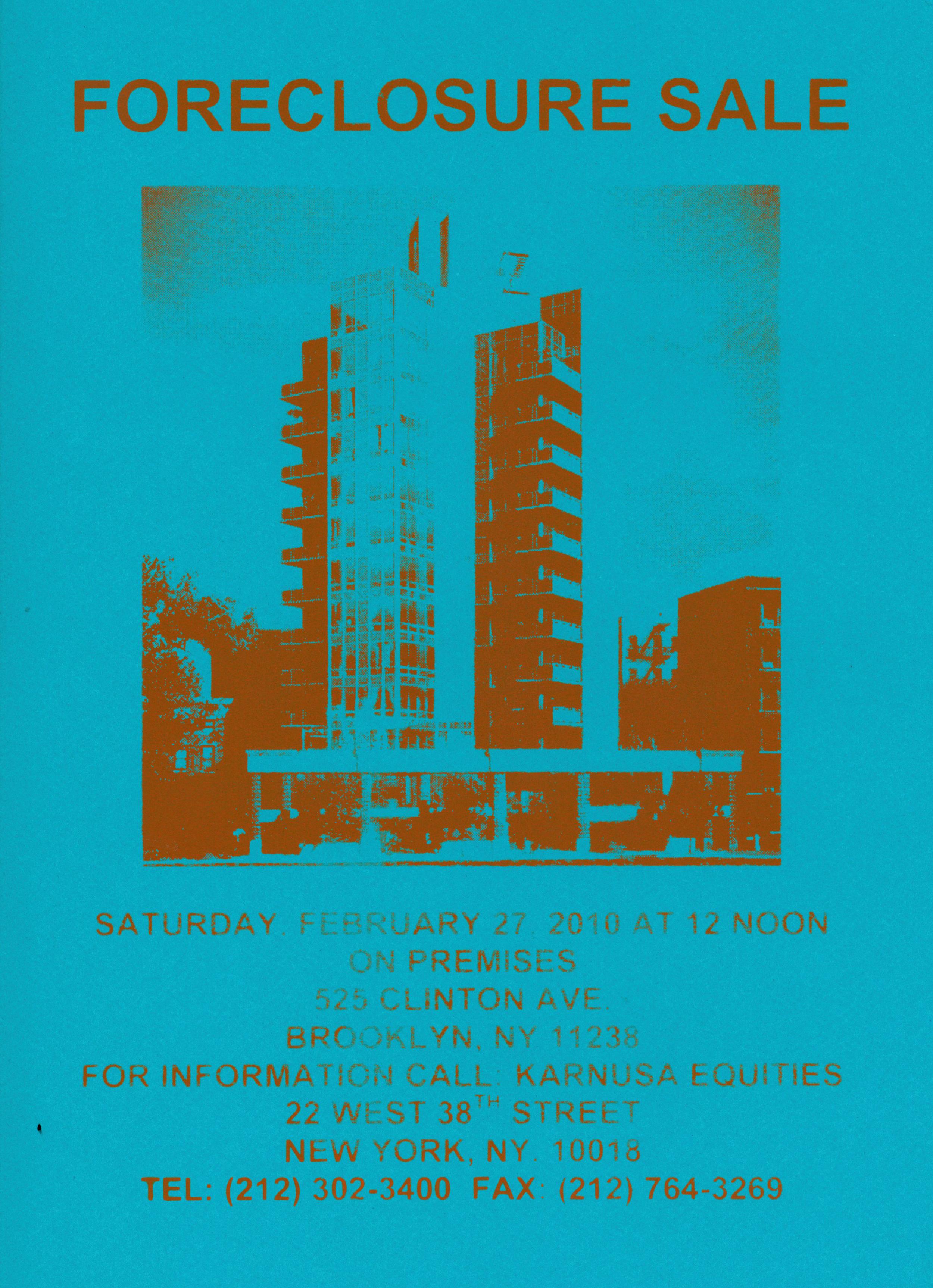 """Hypothetical Foreclosure, 2010, silkscreeen, 9"""" x 14"""""""