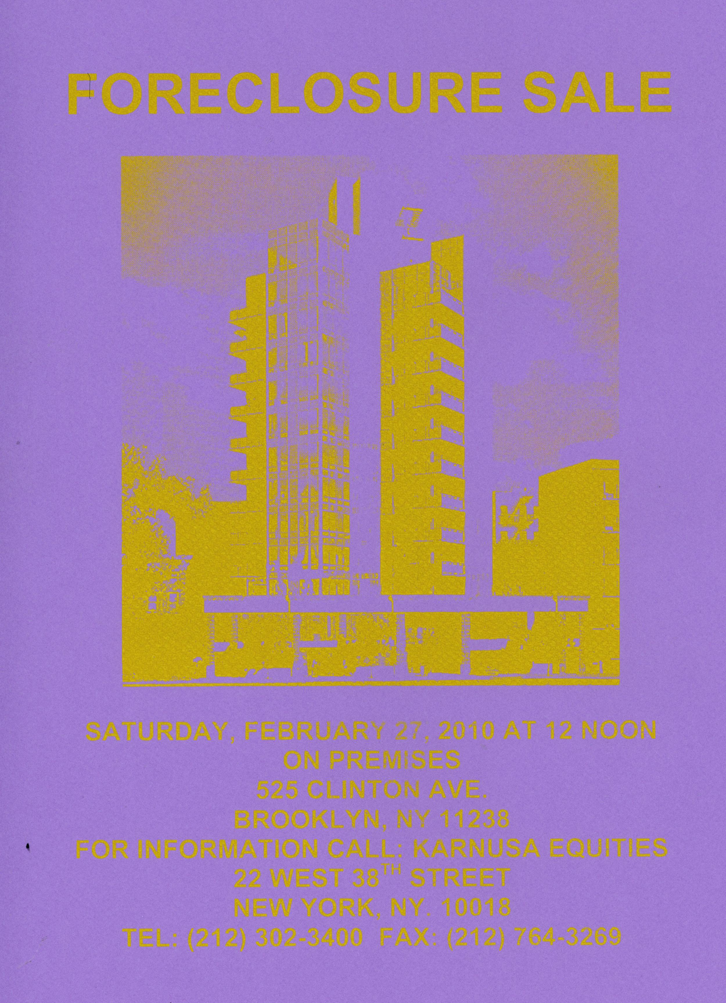 """Hypothetical Foreclosure, 2010, silkscreen, 9"""" x 14"""""""