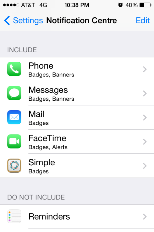 Set notifications for vital apps only