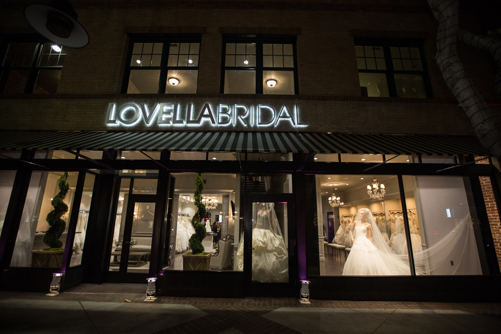 Lovella Bridal  is located at 224 S. Brand Blvd. Glendale, CA, across the street from The Americana at Brand. For appointments call 818.246.4637