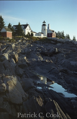 A photo I took in 2001 at Pemaquid Lighthouse Point in Maine using my old faithful friend, a Canon EOS Elan 35mm film camera. While this scene has been photographed countless times by others, many of which are of far better quality than mine, this is  my  photo and  my  memory.