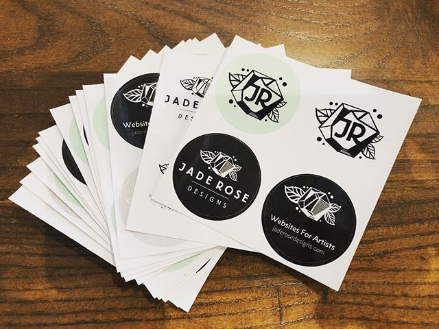 Stickers!! Yay!  Who wants some? . . . #webdesign #logodesign #stickystuff #yay  #miamiart