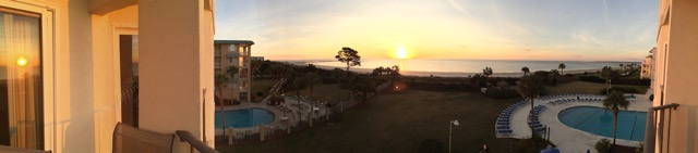 Sunrise view from The Beach Club Condo #310 • Pano by Dan Smigrod