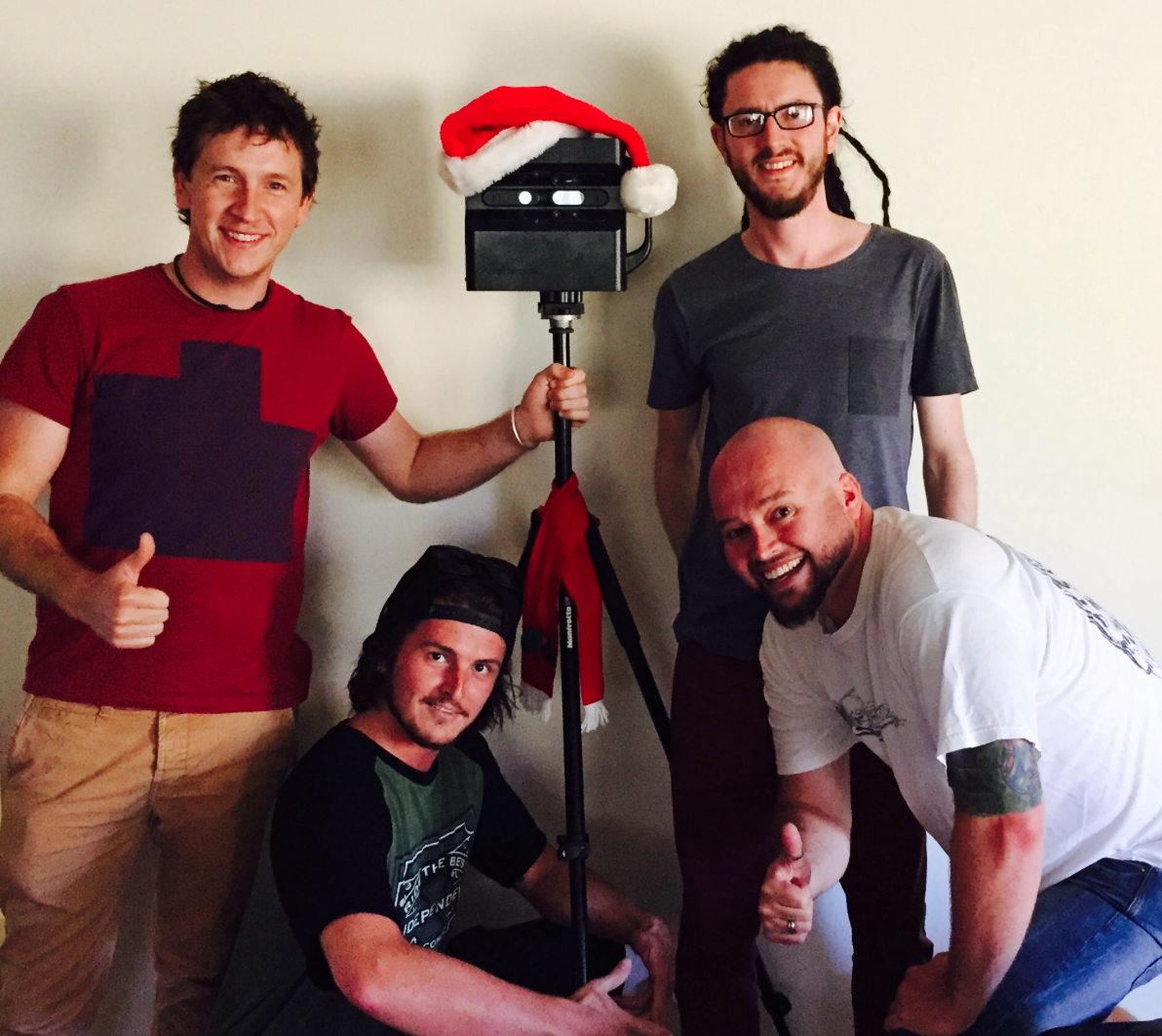 Tickeyview Team | Pictured clockwise from top left are Ben, Lachy, Tim and Mick. Image courtesy of Ticketyview