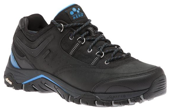 ABEO AEROsystem Hylan-Black-Blue $159.95 + premium sole insert $34.95 | Image courtesy of The Walking Company