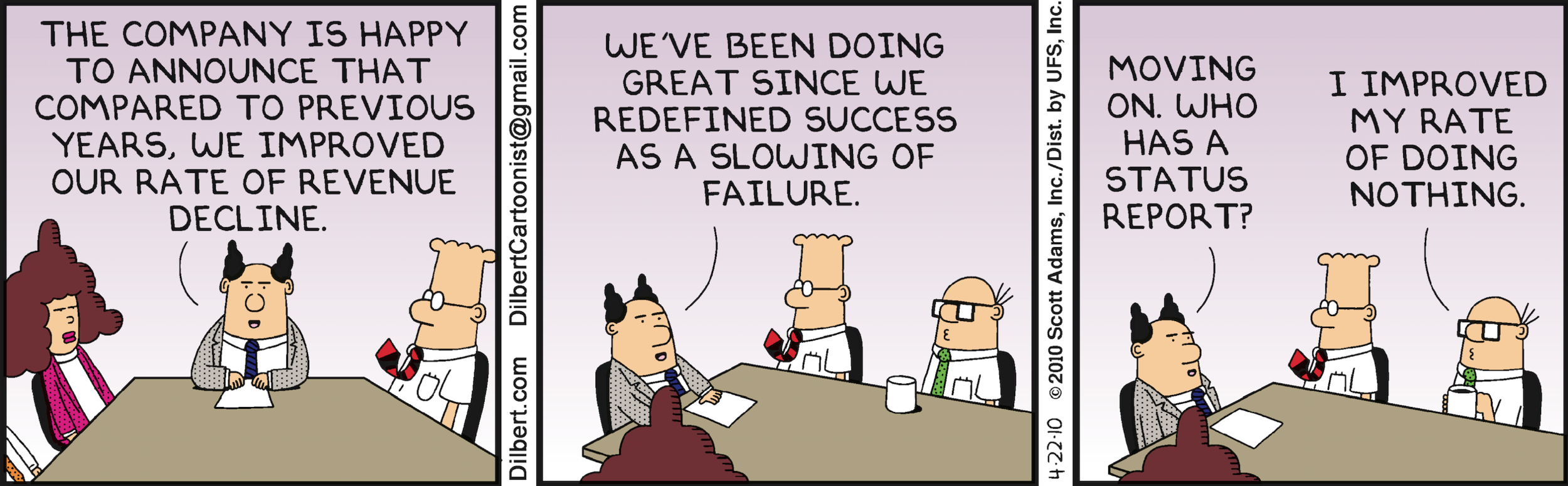 DILBERT   ©2010 Scott Adams. Used by permission of UNIVERSAL UCLICK. All rights reserved.