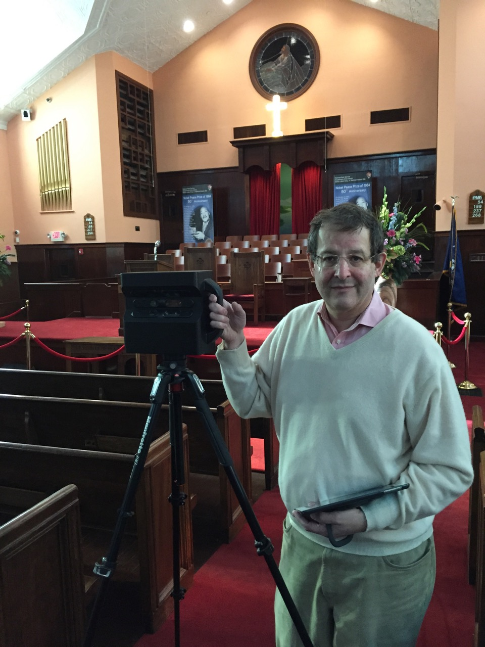 We Get Around Chief Photographer Dan Smigrod at Ebenezer Baptist Church