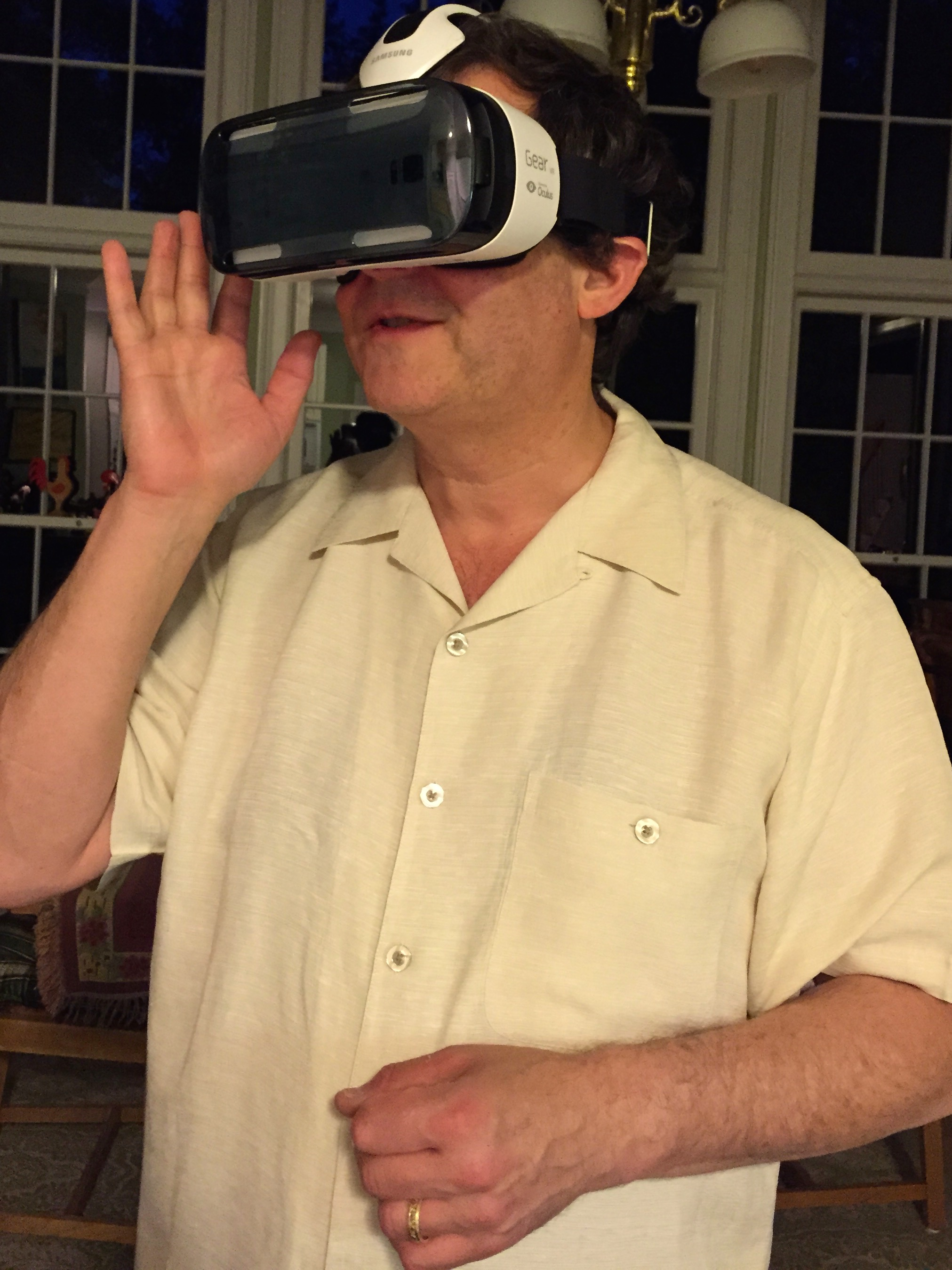 We Get Around Chief Photographer Dan Smigrod experiencing Samsung Gear VR + Samsung Galaxy Note 4 with Matterport VR Showcase Beta