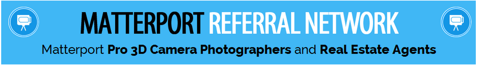 We Get Around Network of Matterport Pro 3D Camera Photographers and Real Estate Agents-Banner