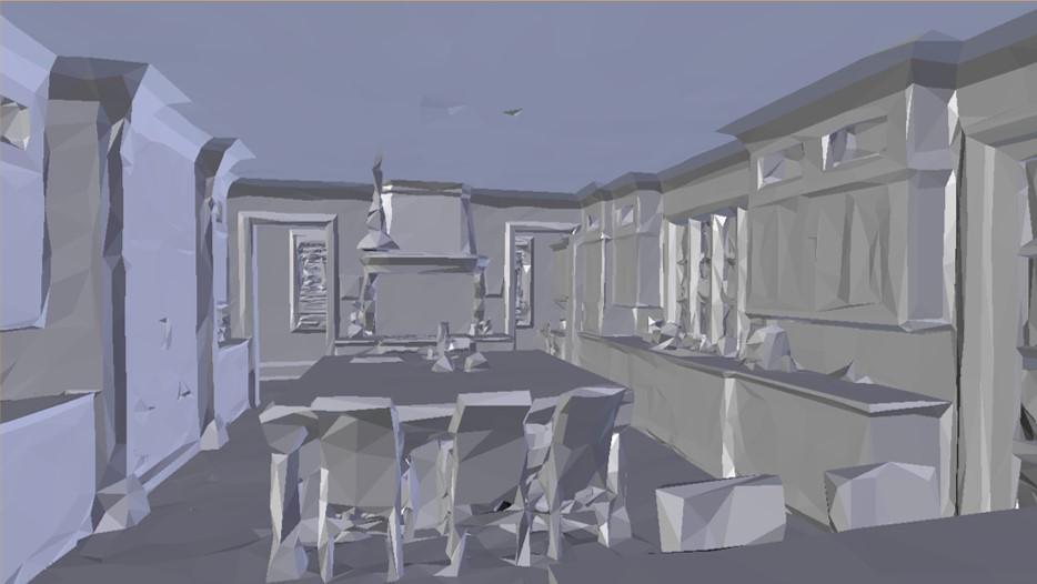 Example 1 - Comparison    CAD No Texture    Matterport 3D Model Courtesy of We Get Around Chief Photographer Dan Smigrod