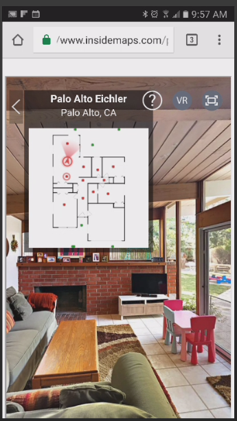 Screen Grab: InsideMaps 3D Tour Viewed on a Smartphone (Portrait)