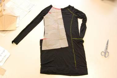 Pattern modifications to make a tunic