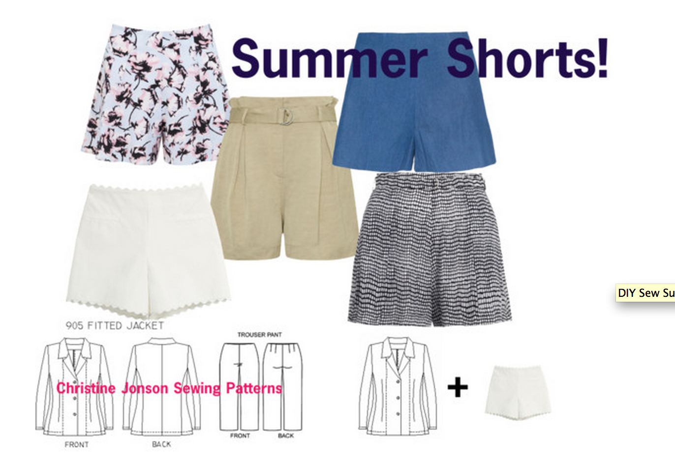Sewing your own shorts from a pants sewing pattern