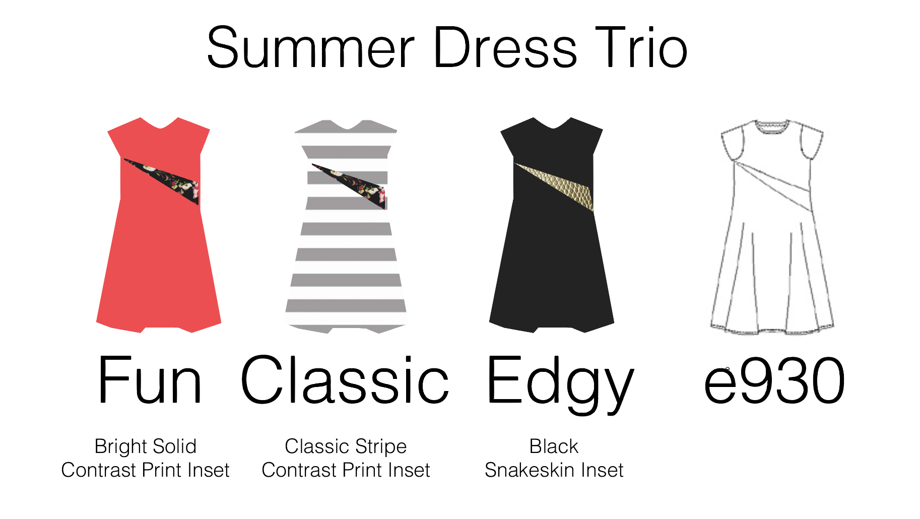Make the A-line dress fit your style! Here are three fun sewing design options for the Downloadable A-Line Dress pattern.