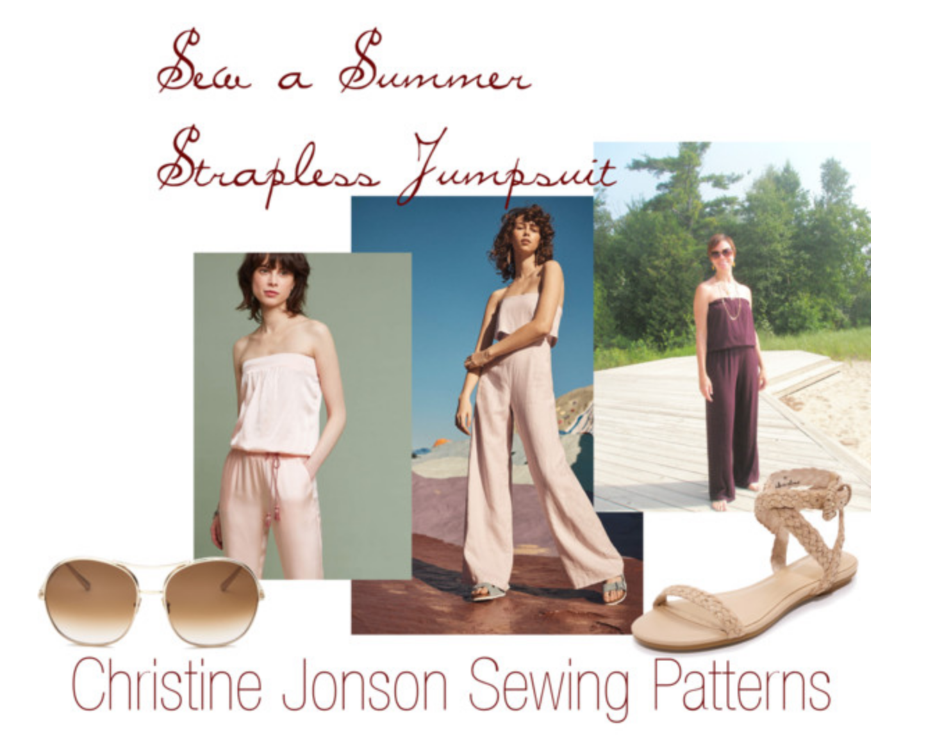 Sew a Strapless Summer Jumpsuit DIY + Instructions + Tutorial