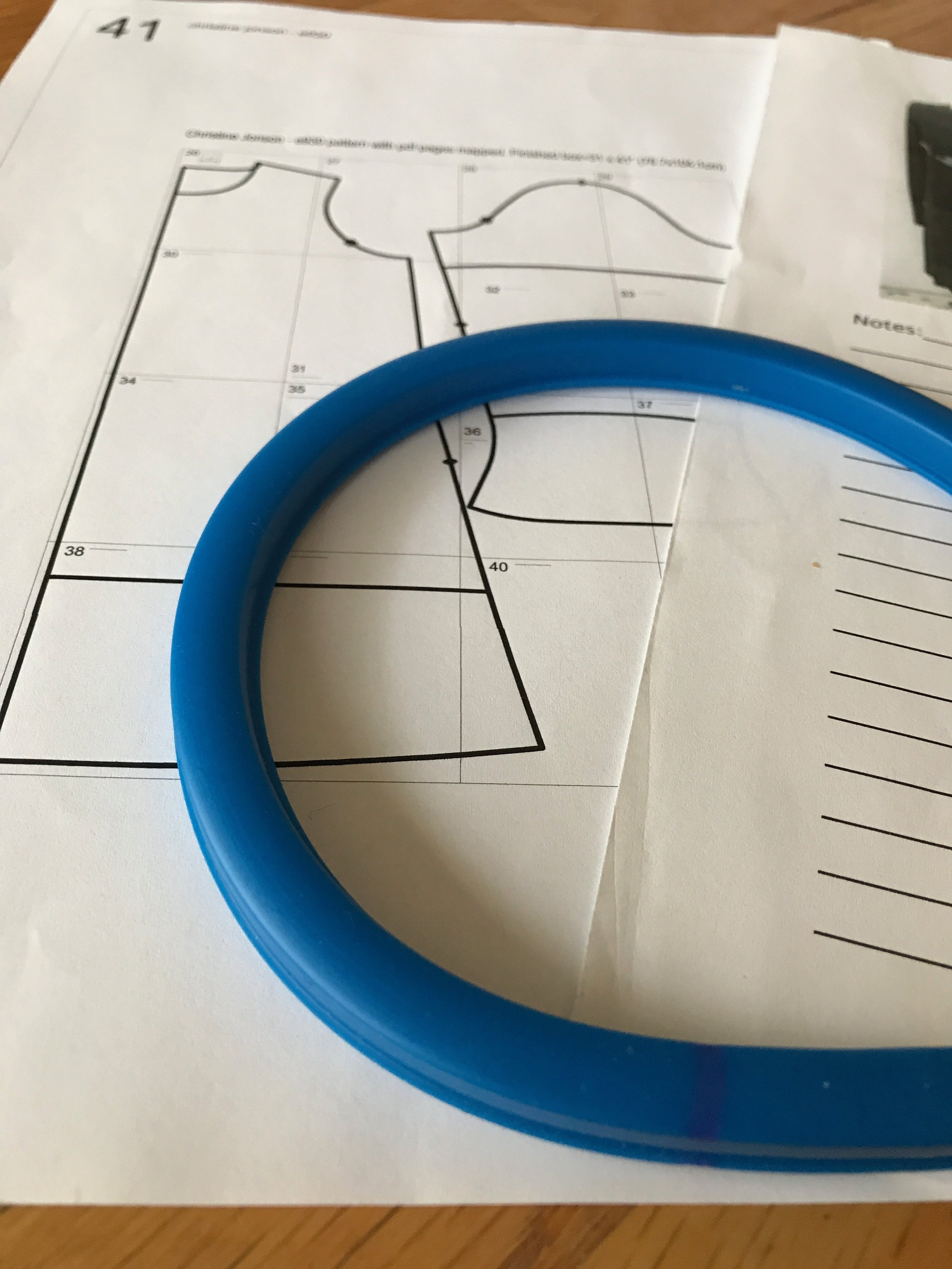 Alterning a neckline on a sewing pattern to match a favorite tee