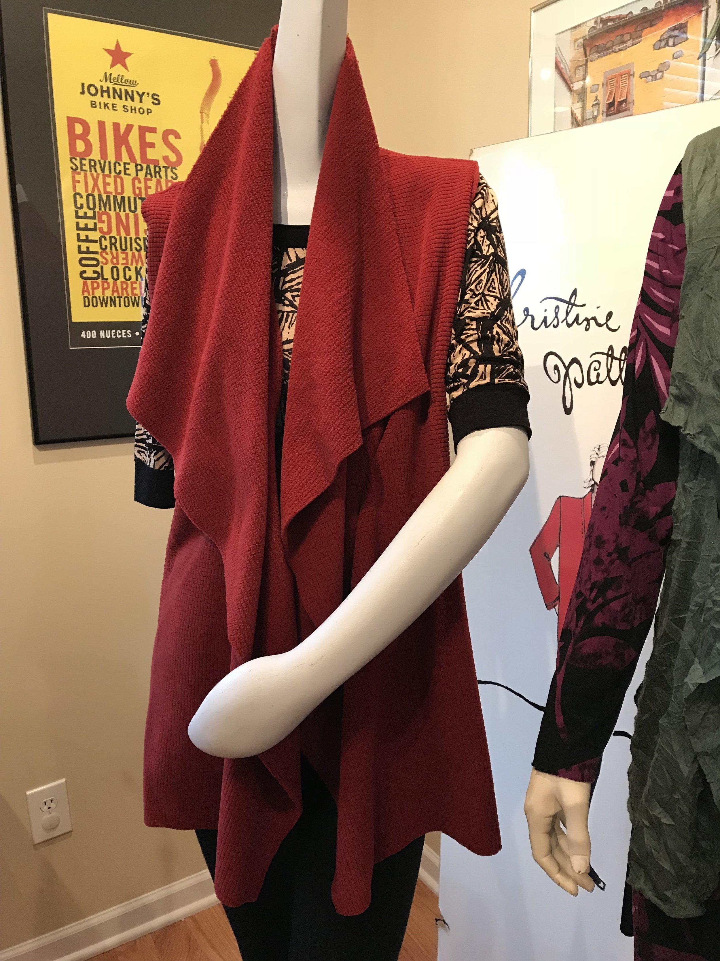drape vest waterfall vest sewing pattern