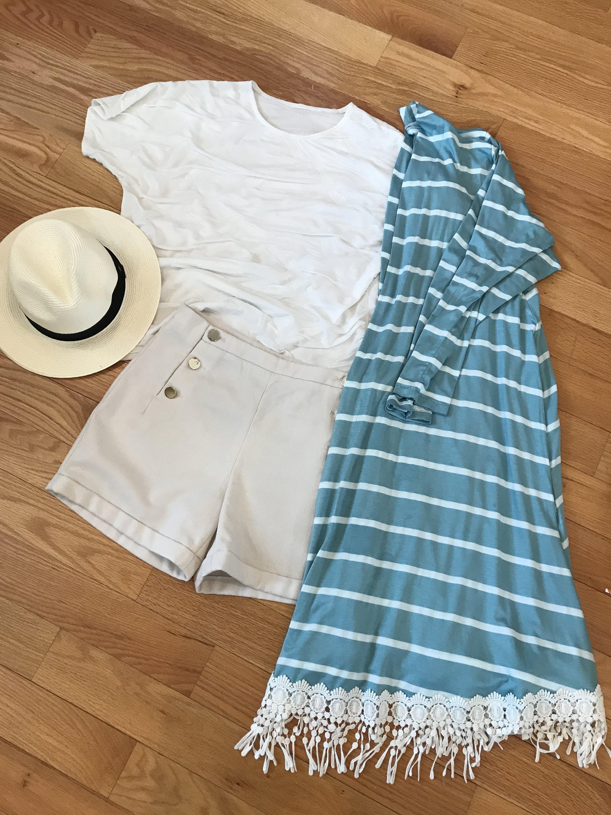 Sewing a Spring Break Capsule Wardrobe with Christine Jonson Patterns   long swing cardigan, long short sleeve tee