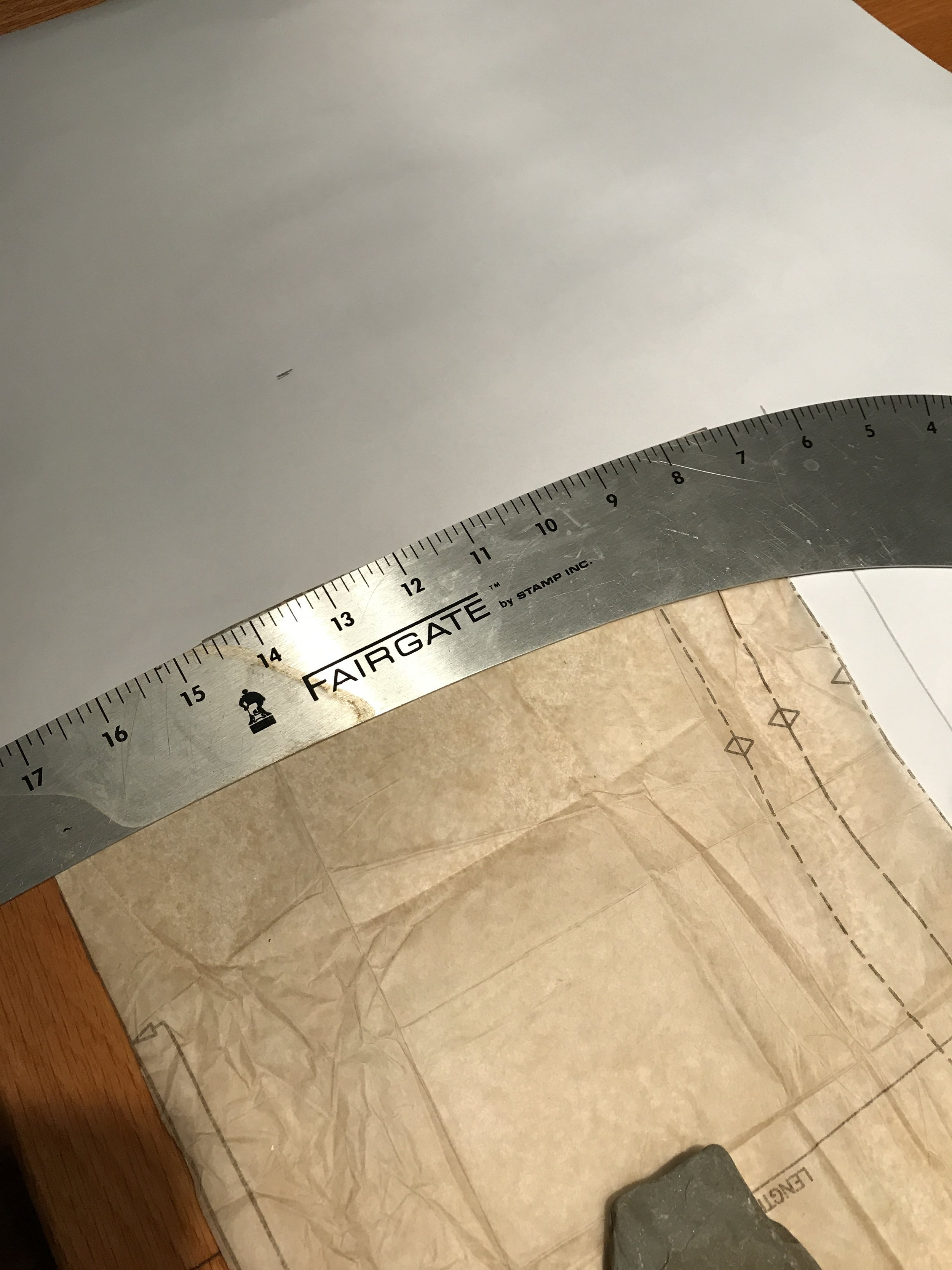 Copying the hem curve