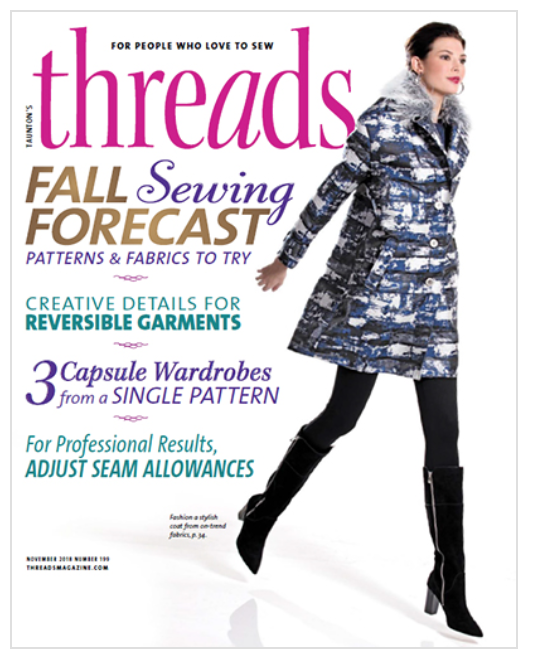 Pattern Review of the Ruched Pencil Skirt - Read the Threads Magazine review of the Ruched Pencil Skirt in the September/October 2018 issue of Threads Magazine (p. 34)