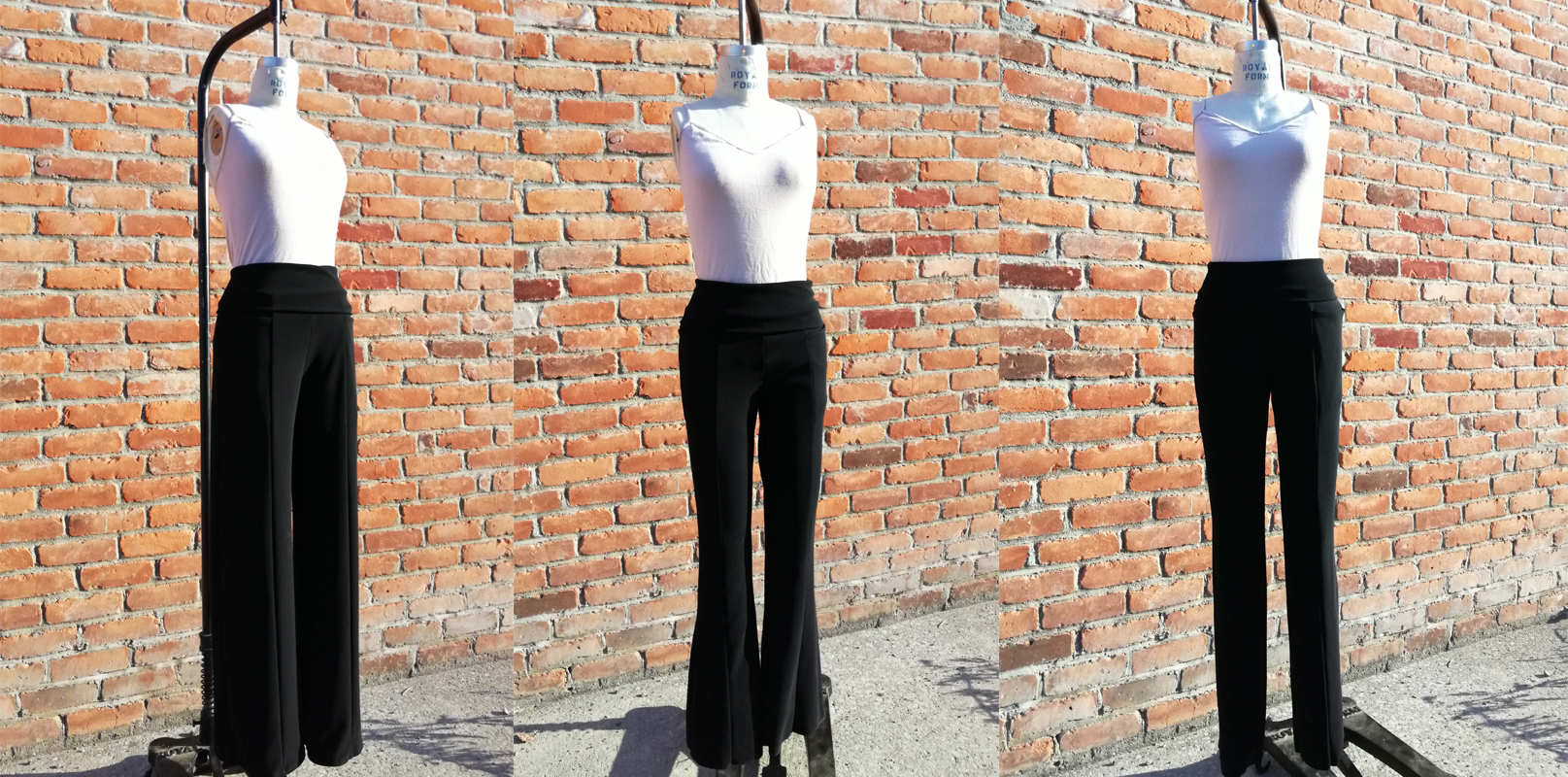 Classic Wide Leg, Flare Leg and Skinny Leg Perfect Pants in the perfect black 4-way stretch heavyweight ponte knit. Your new favorite pants!