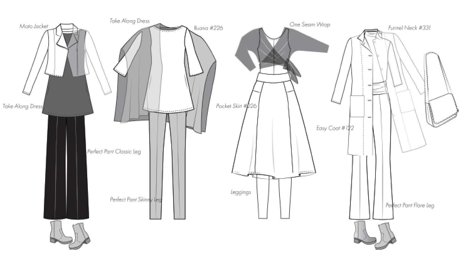 Capsule Wardrobe Christine Jonson Sewing Patterns Winter 2018 2019