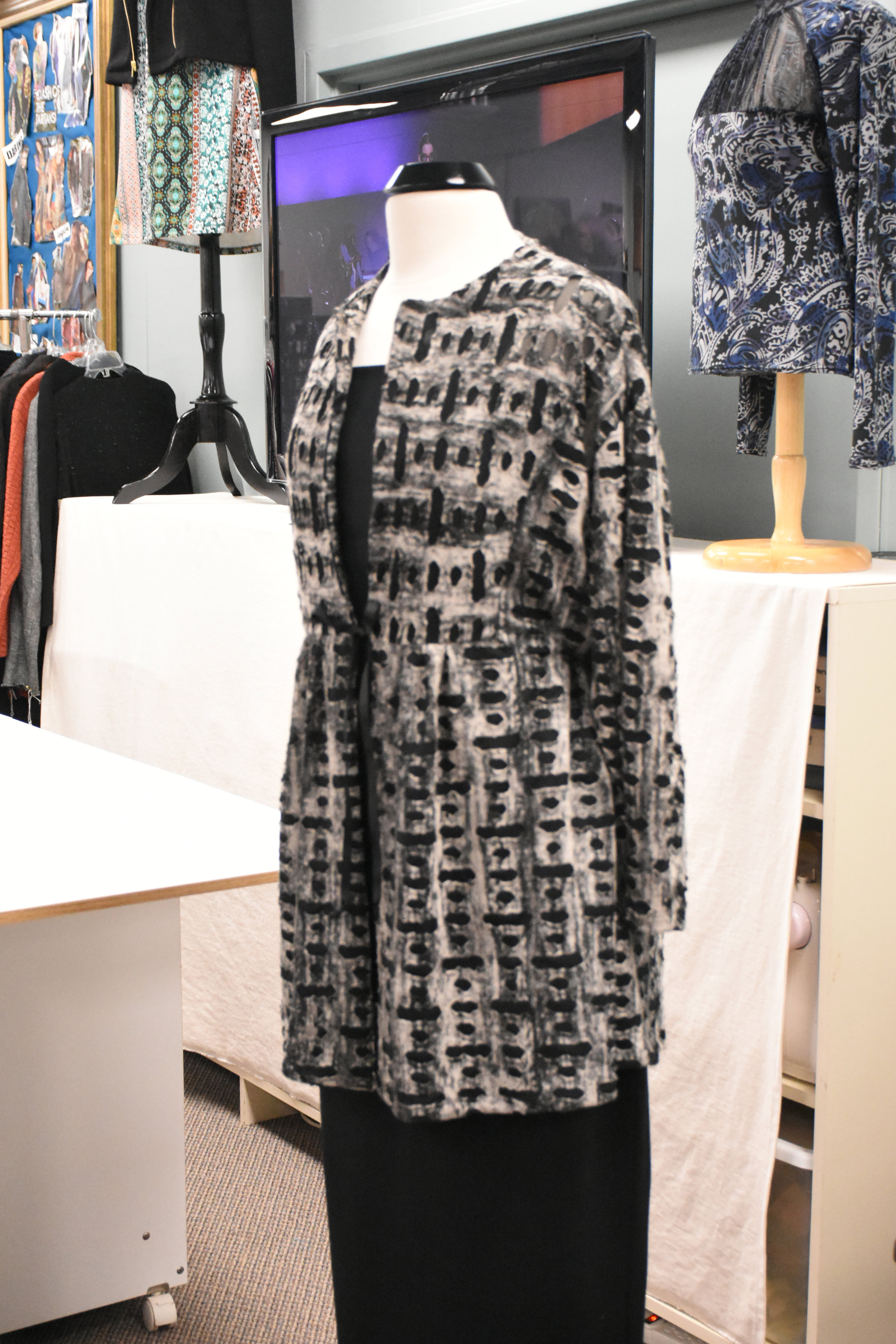 Inset Jacket Sewn in Distressed Knit Fabric - From our friends at Haberman Fabrics in Clawson
