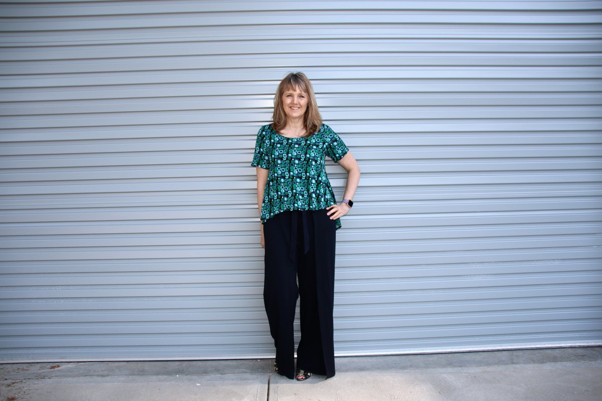 Flyaway Top and Wrap Pants Sewing Pattern
