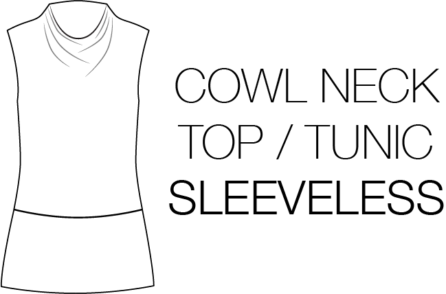 CJP Cowl Neck Tunic Top Sleeveless Illustration sewing pattern DIY.png
