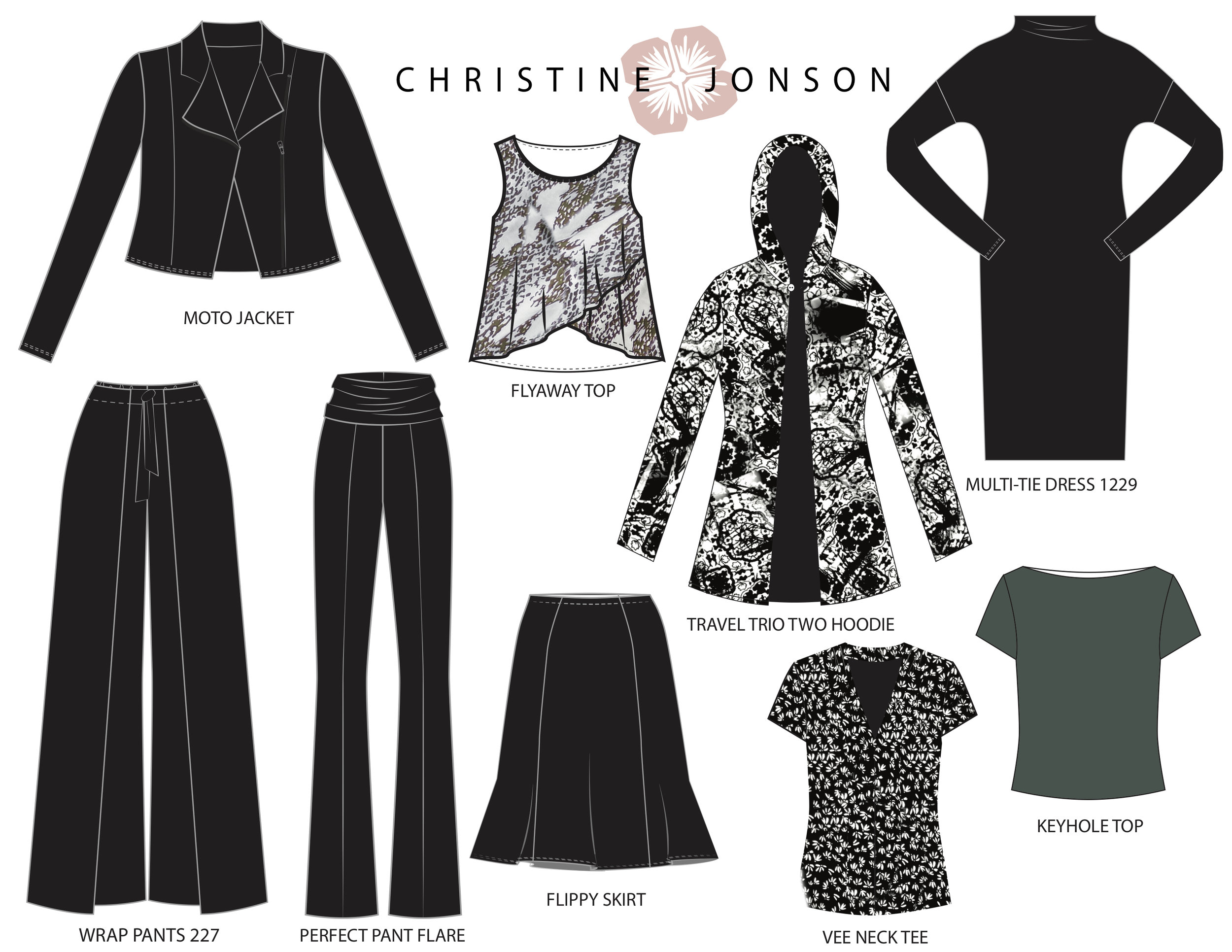 Christine Jonson Summer Fall Capsule Wardrobe