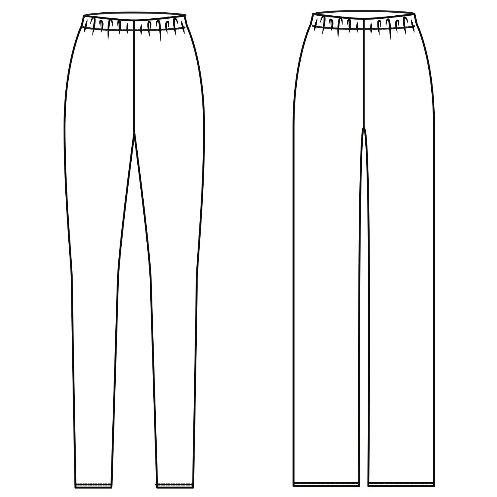Taper & Wide Leg Pants 824