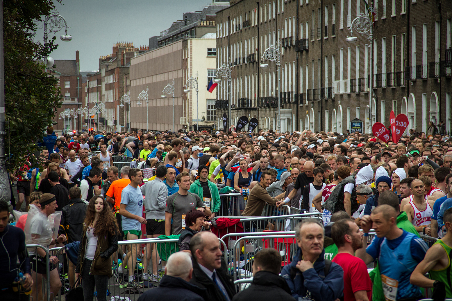 Dublin city Marathon start line