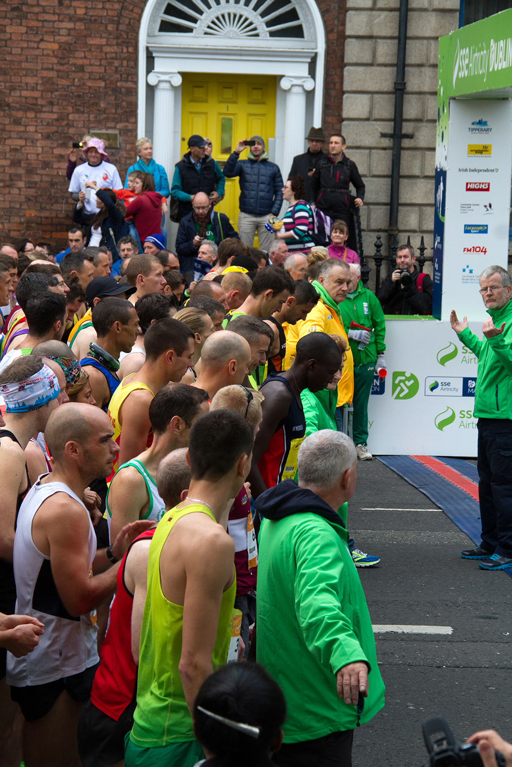 Start line of the dublin city marathon