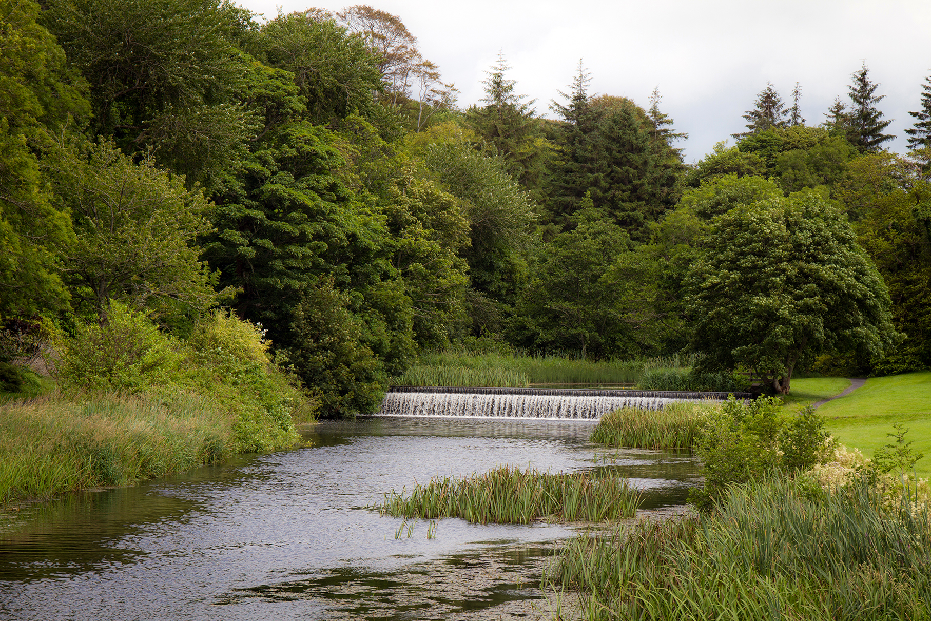Waterfall in the grounds of Westport House Co. Mayo