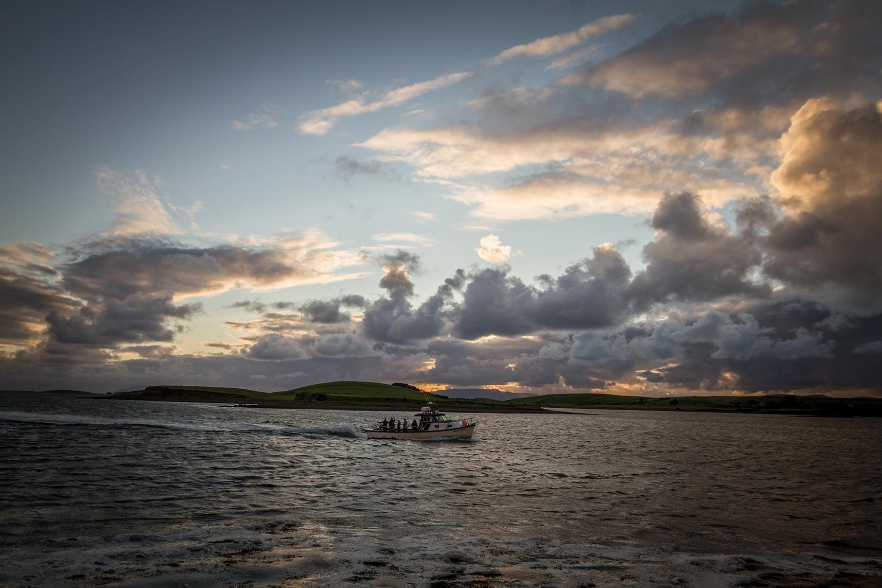 Fishing boat returns to Westport Harbour