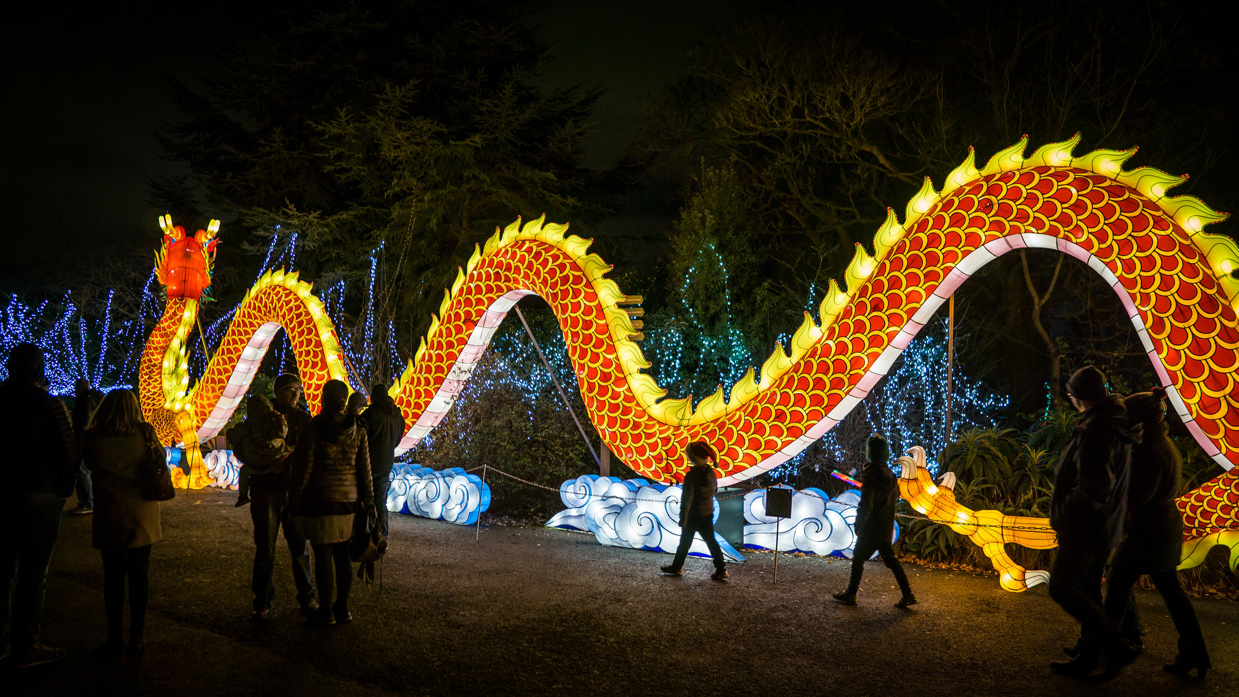 Chinese dragon light Sculpture