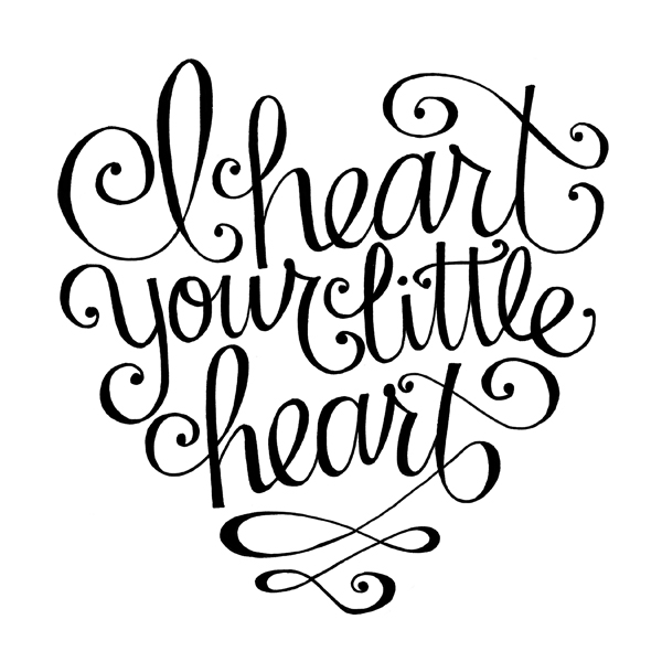 i heart your little heart.