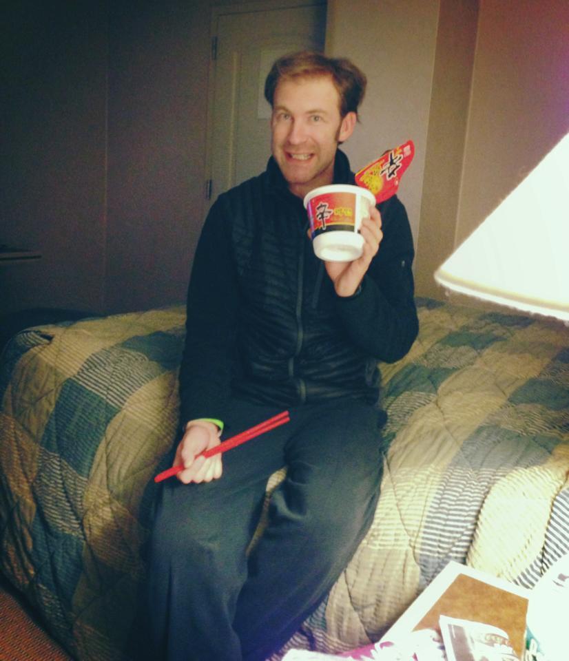 Zeljko and his noodle bowl