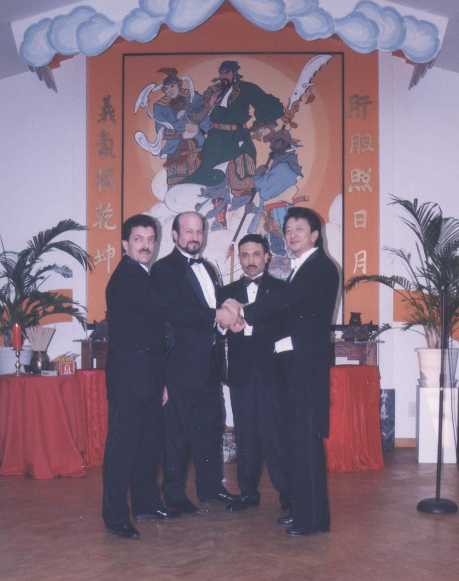 Sihings Michael, Alan, and Louis with Sifu in 1997