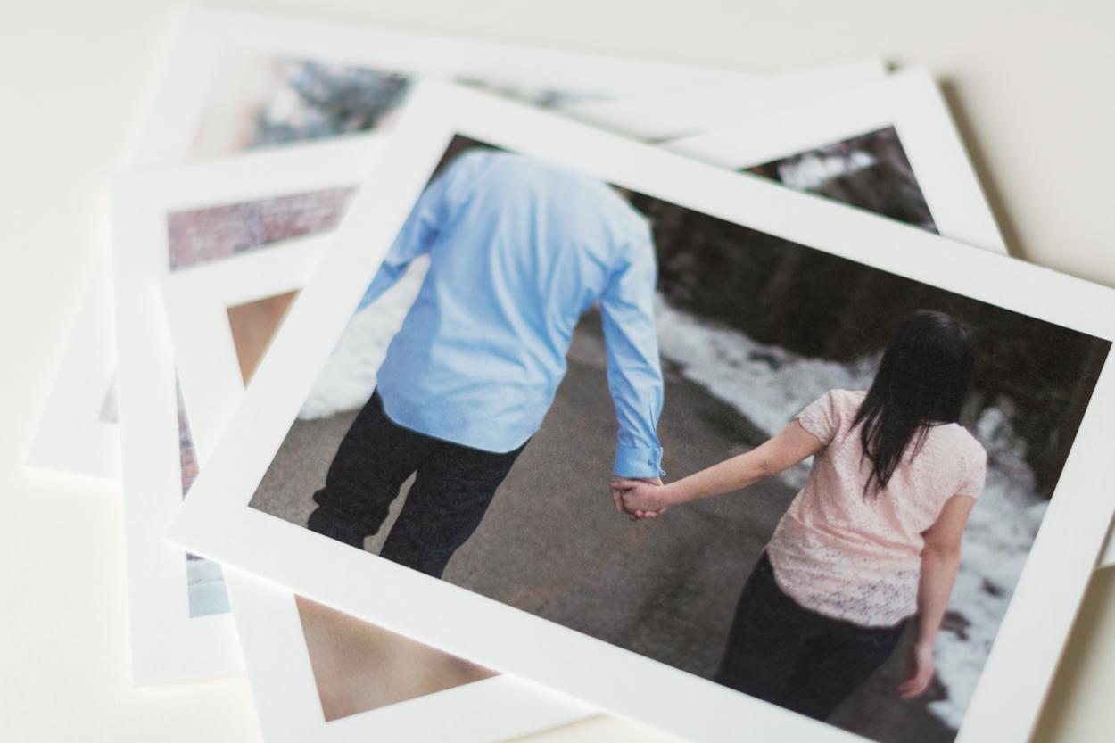 Then I had those photos  printed.