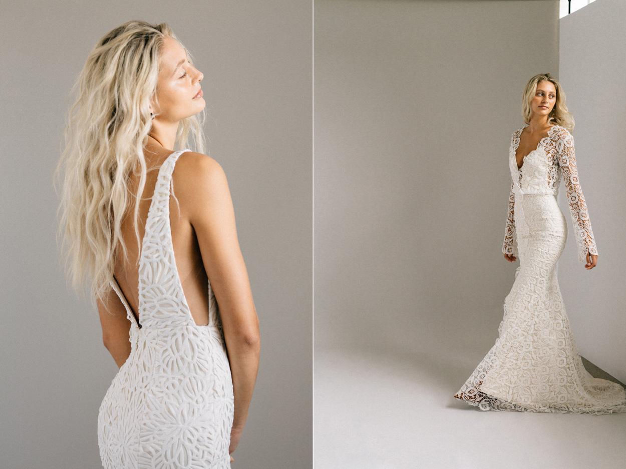 Left: Laudae Tapia Dress / Right: Laudae Halsey Dress / Photo: Bryan Van Wyk