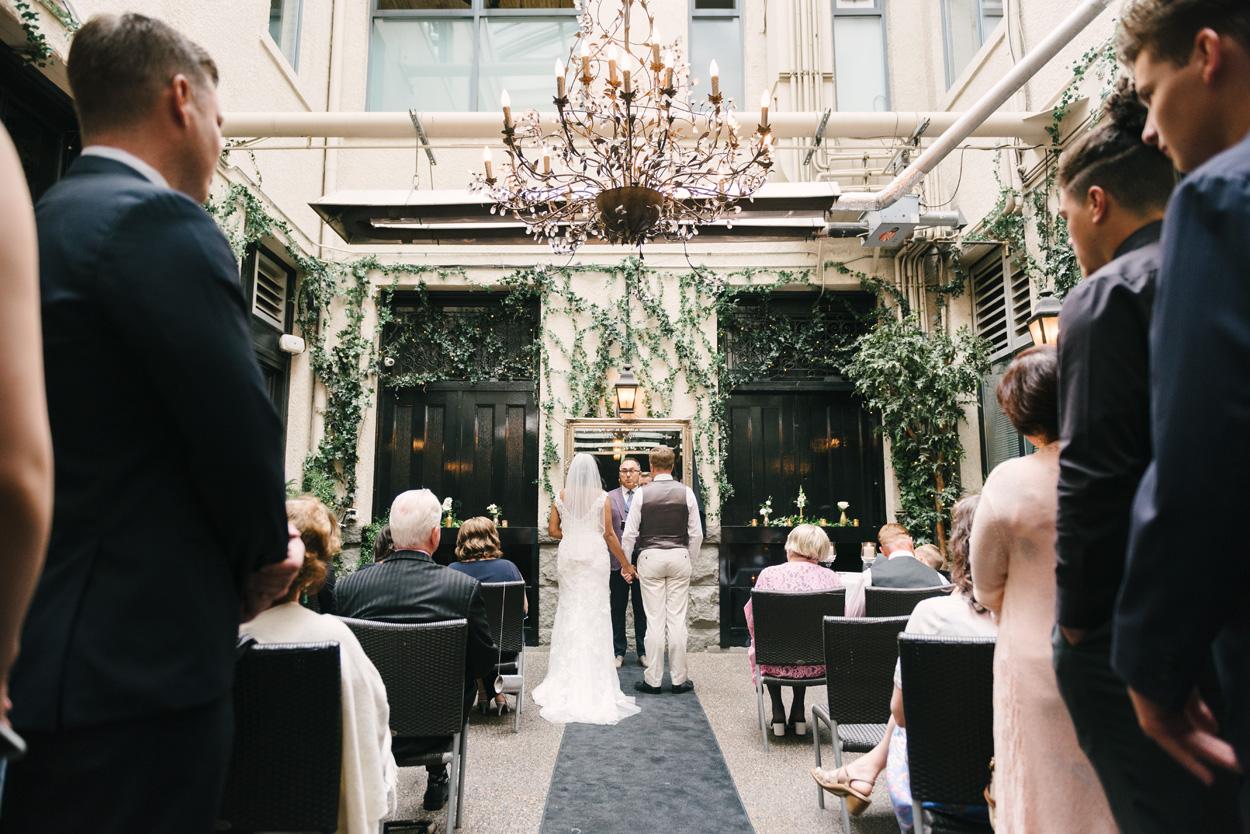 Wedding ceremony at Brix and Mortar