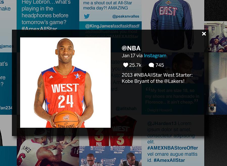 OVERLAY EXAMPLE | NBA's Instagram feed