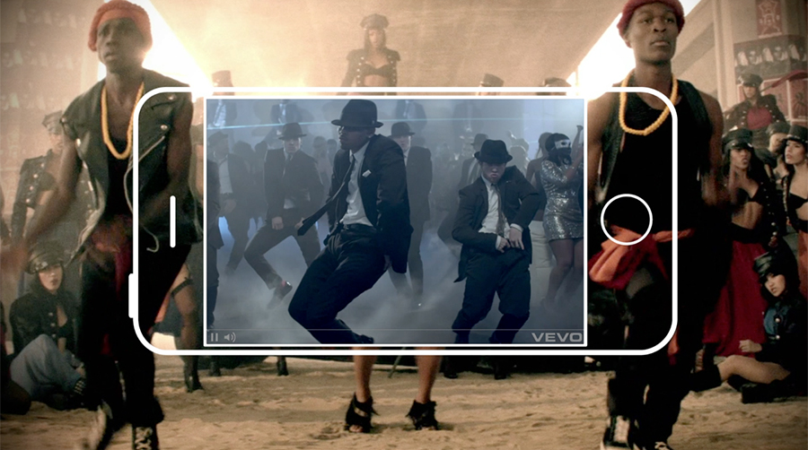 """VISUAL CONCEPT: """"THE KINETIC CANVAS""""   celebrating video as the core of VEVO"""