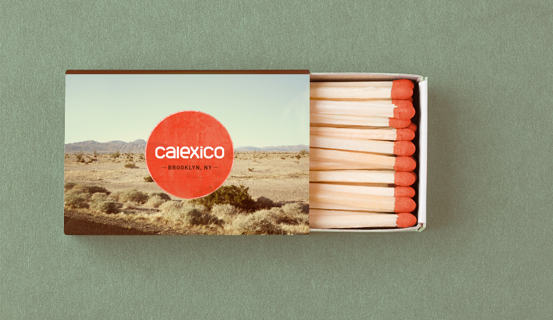 one in a series of five matchboxes that showcase the owner's hometown of calexico, ca
