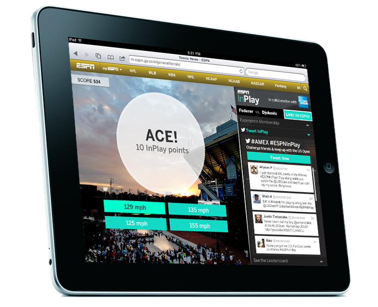 tablet 2nd-screen gaming experience
