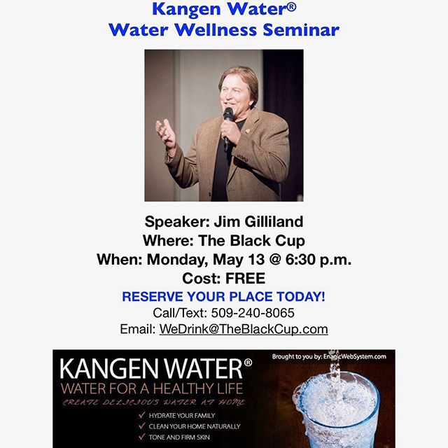 #Ionized, #Alkalized, #Hydrogen-rich #Water! Don't miss this opportunity to learn about this #AWESOME water! Kangen Water® #organic #FairTrade #noGMO #sustainable #ecofriendly #conscience #vegan #CollegePlace