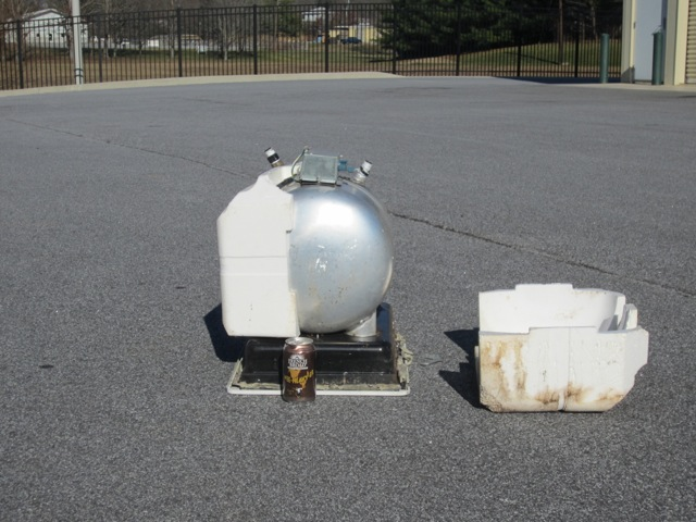 Water heater: 28.5 lbs (replacing with two point of use heaters)