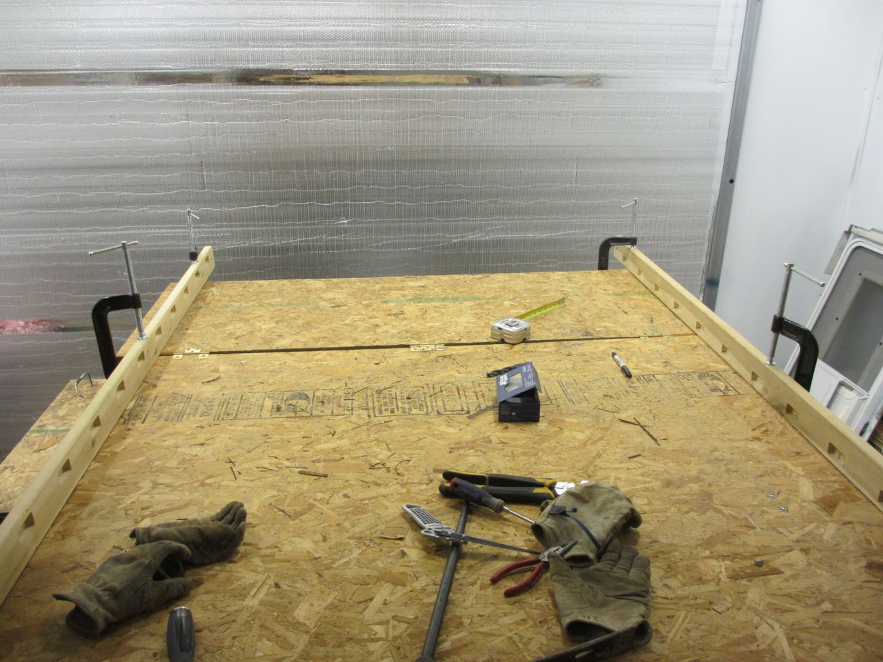 Set up boards indicating the new length.